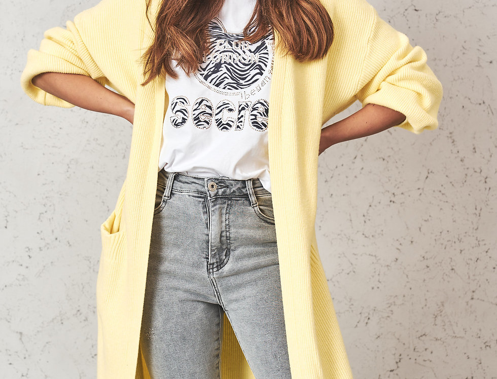 Cardigan Yellow Bee