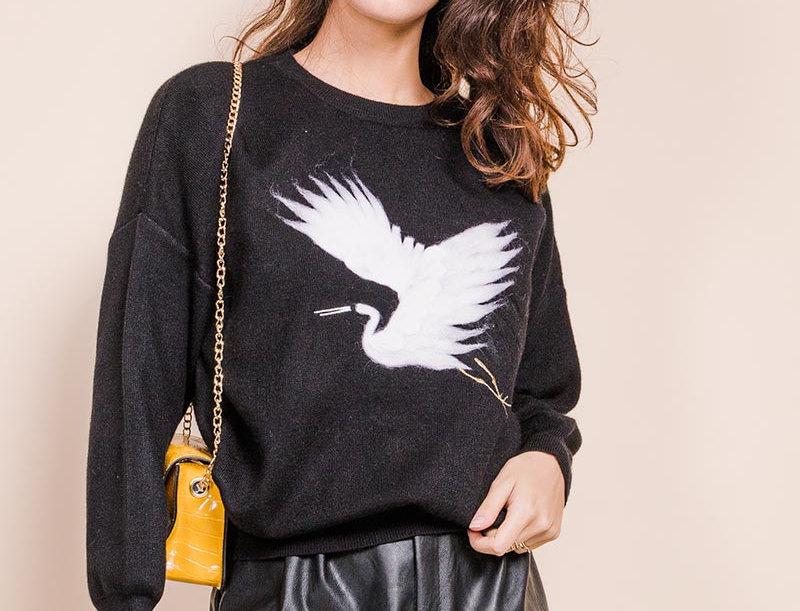 Pullover Kranich