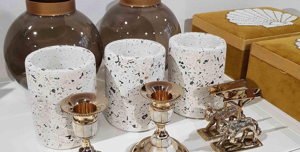 Kerzenständer Perlmutt