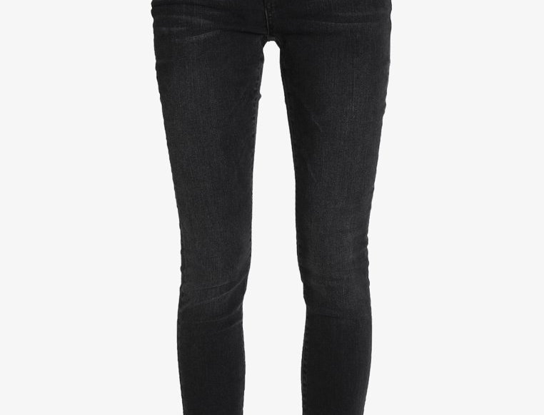 Midwaist Skinny Jeans washed black