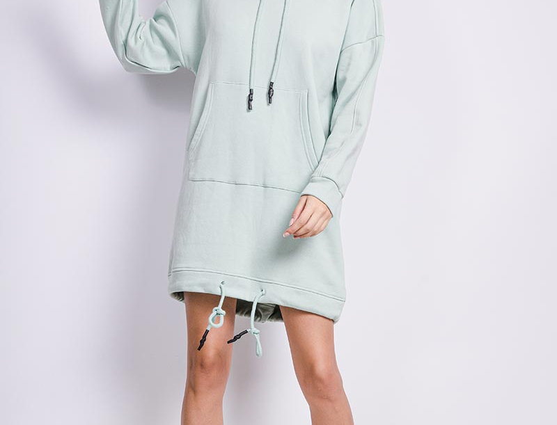 Hoodiekleid Mint