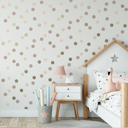 108565 DOTTY POLKA PINK AMERICAN GOLD RO