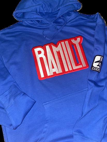 Old School Blue Ramily Hoodie 3x-4x