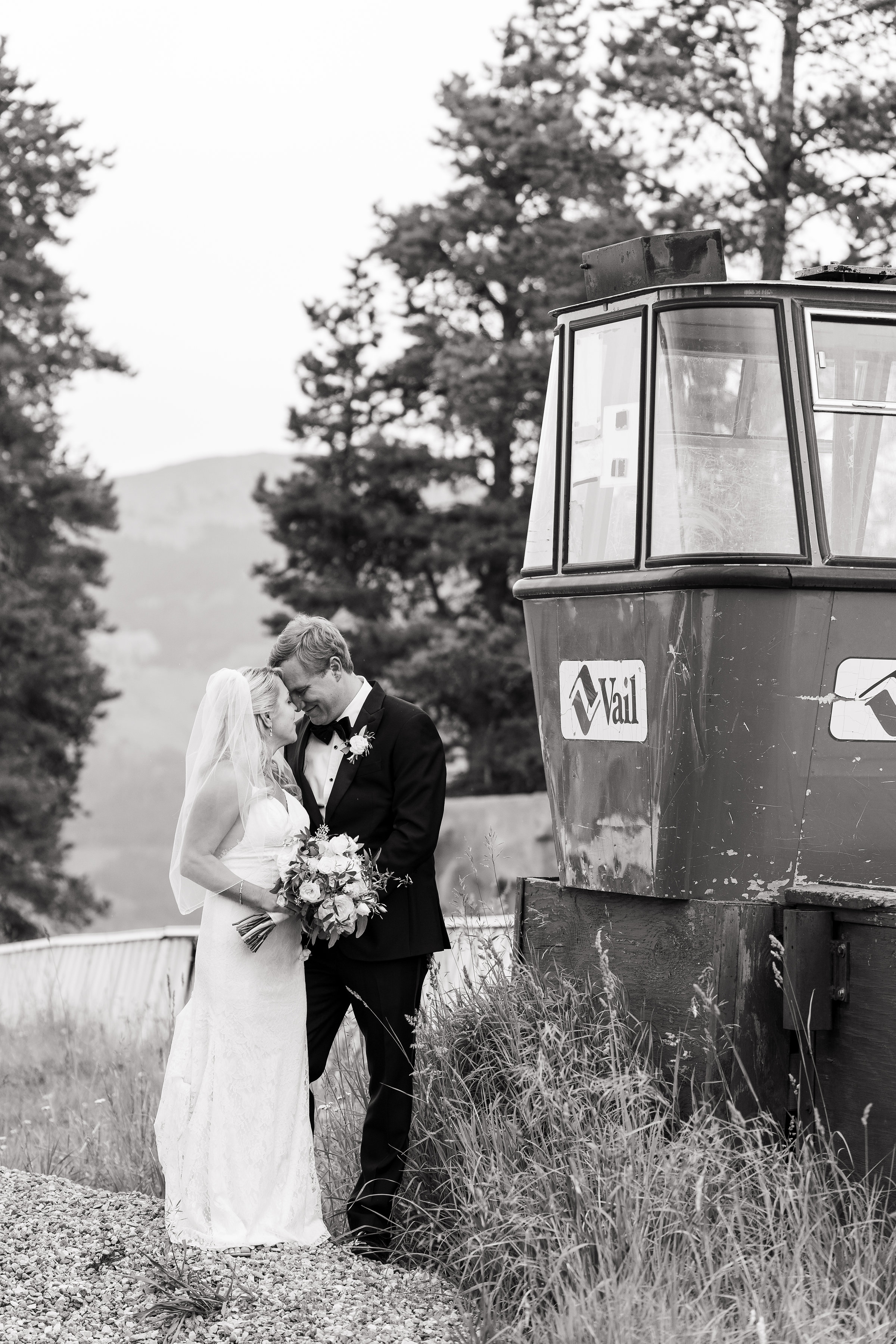 Vail CO Old Gondola Wedding