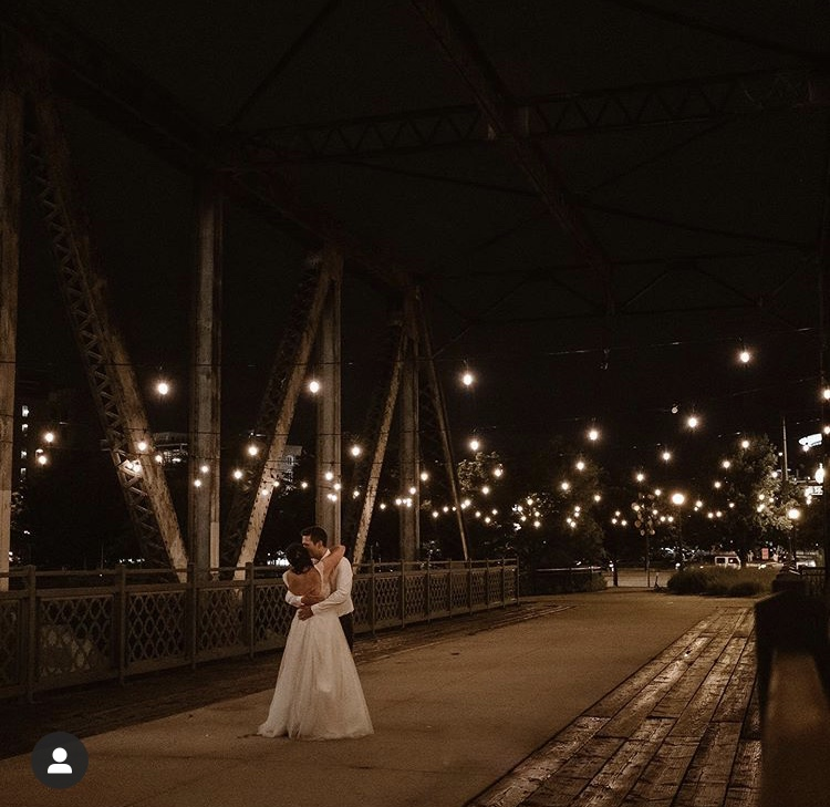 Bridge Wedding Nighttime