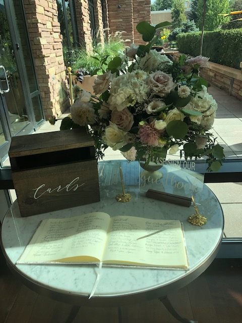 Wedding guest book + card box