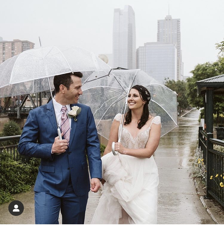 Downtown Denver Wedding in the Rain