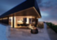 Terras Penthouse : avondrendering