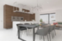 Inrichting woonkamer penthouse