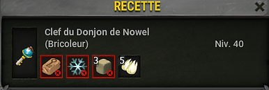 Clef donjon Nowel - Boufcoul