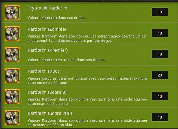 Succes Kardorim - Dofus
