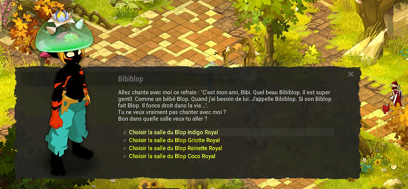 Choix Blop Indigo Royal - Dofus