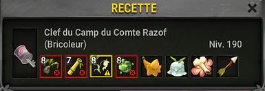 Clef comte razof
