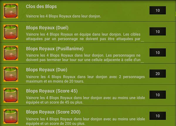 Succes Donjon Blop - Dofus