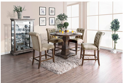 Nerissa Round Counter Ht.  Dining Table Set