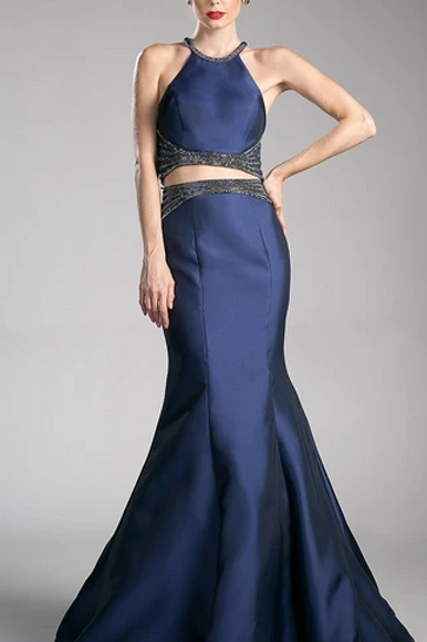 Two Piece Set Cute Evening Dresses