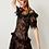 Thumbnail: Long Sleeves Evening Short Dress