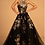 Thumbnail: Illusion Halter Neckline Floral Bodice Long Prom Dress