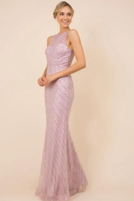 Sleeveless Sequined Sheath Shape Dress