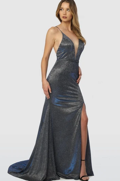 Deep V-Neck Super Sexy Long Prom Dress Mermaid Shape