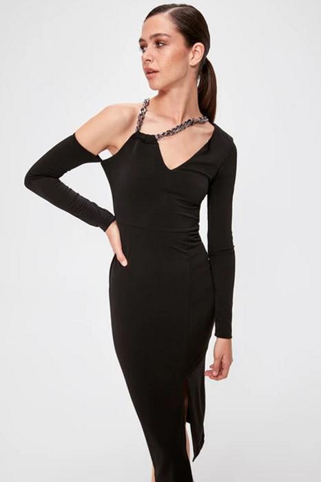 One Shoulder Sheath Short Evening Dress