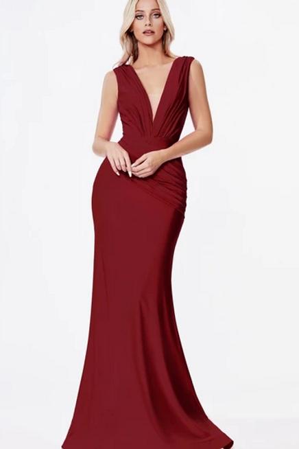 V-Neck Sleeveless Mermaid Shape Dress
