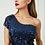 Thumbnail: Sequined One Shoulder Leg Slit Dress