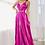 Thumbnail: A-Line Pleated Metallic Long Dress