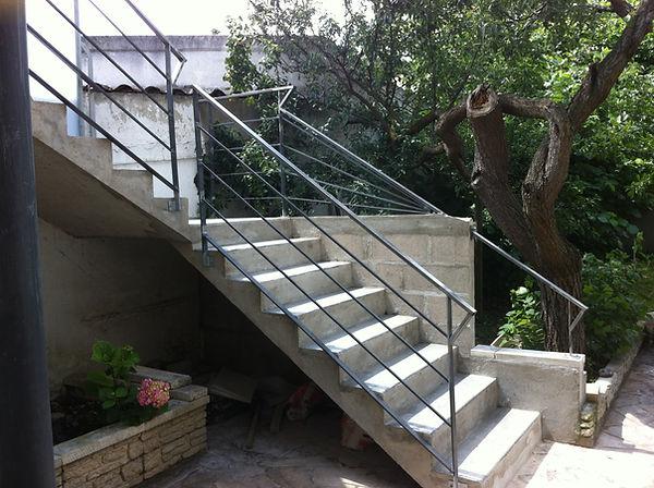 Rampe d'escalier sur mesure