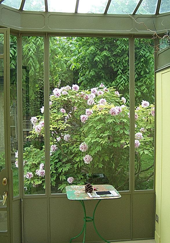 Verrière vestibule sur mesure, vue d'intérieur