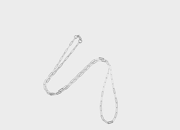 Catena lunga liscia argento