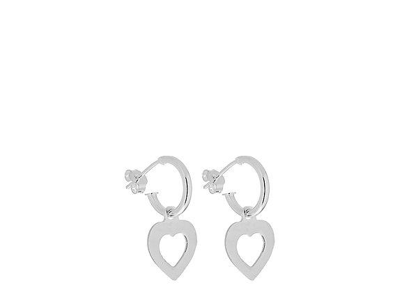 Orecchini cuore bucato argento