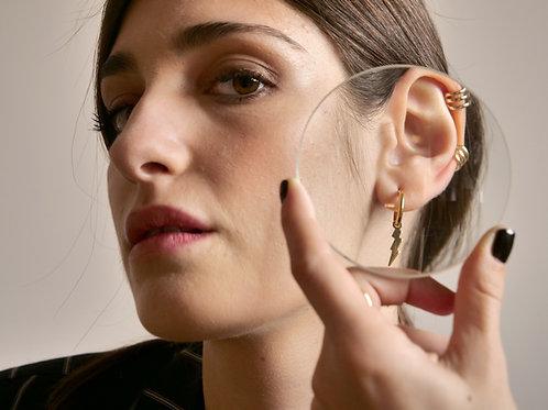Ear cuff 3 fili oro
