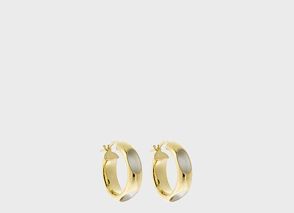 Cerchio forato blanc oro grande