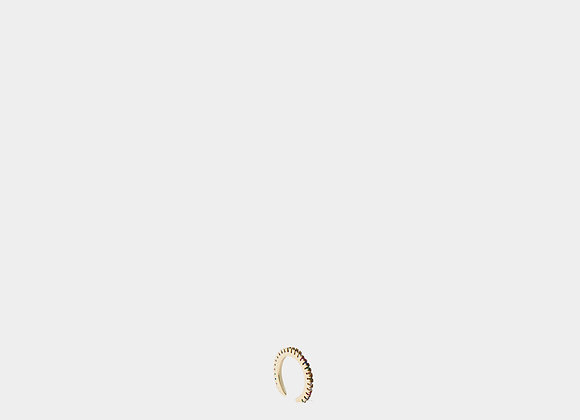 Ear cuff sottile zirconi colorati oro