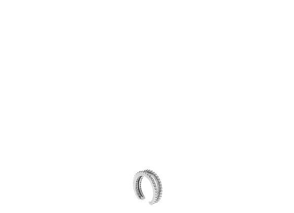 Ear cuff doppio lavorato argento