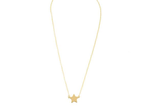 Collana stella oro