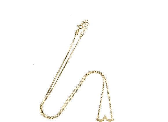 Collana stella bucata oro