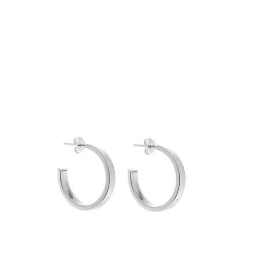 Orecchini anelli spessi piccoli argento