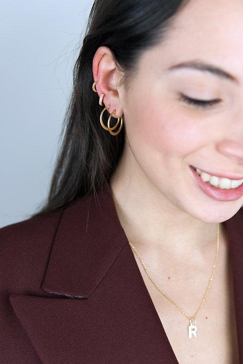 Ear cuff spesso lavorato oro