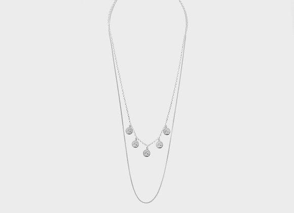 Collana ciondoli santini argento