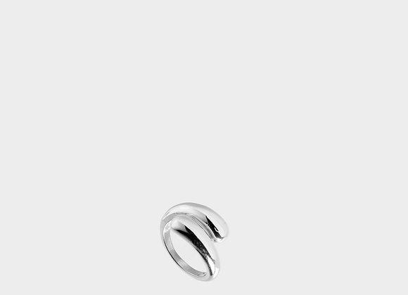 Anello spesso doppio argento