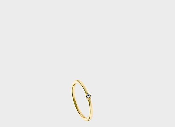 Anello zircone oro