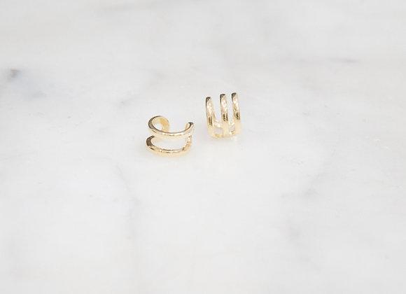 Ear cuff 2 fili oro