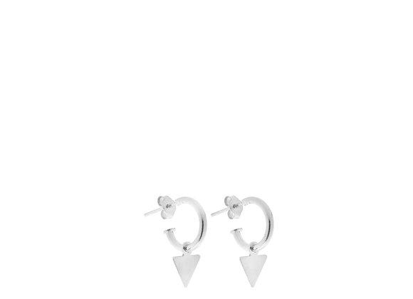 Orecchini triangolo argento