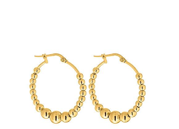 Orecchini anelli di perle oro