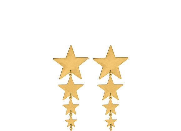 Orecchini stelle decrescenti oro