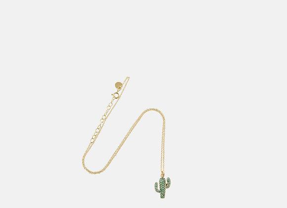 Collana cactus verde oro