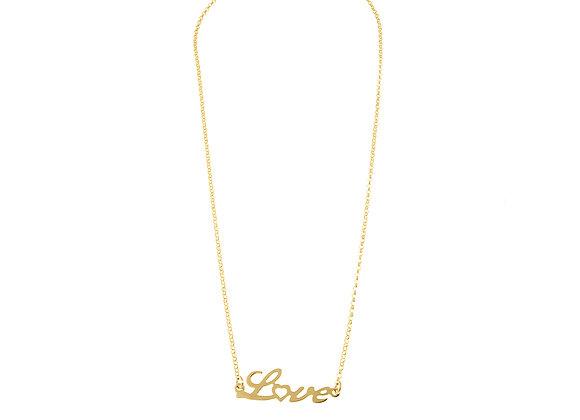 Collana scritta love oro