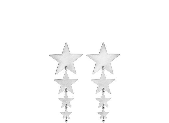 Orecchini stelle decrescenti argento